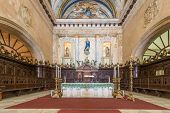 HAVANA,CUBA - JULY 9, 2014 : Detail of the altar at the Cathedral of Havana