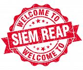 Welcome To Siem Reap Red Vintage Isolated Seal