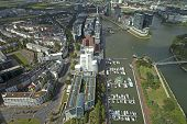 Dusseldorf, Germany, on July 6, 2014. View of the city from a survey platform of a television tower