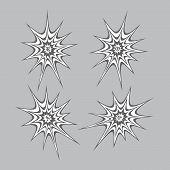 stock photo of spiderwebs  - spiderweb theme vector graphic art design illustration - JPG