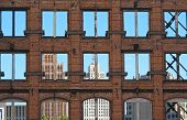 picture of framing a building  - A view of downtown Detroit - JPG