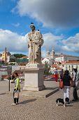 Famous Portas Do Sol Belvedere With St. Vicente Statue, Sao Vicente De F