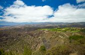 Gran Canaria, Aerial View From Pico De Bandama