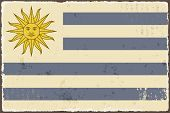 Uruguayan grunge flag. Vector illustration
