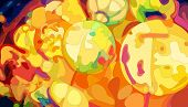 Colorful Chinese Lanterns, vector eps8 illustration