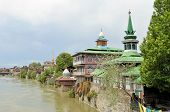 Mosques at Jahelum river in Srinagar, Kashmir