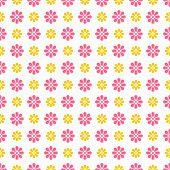 Light summer vector seamless pattern (tiling). Fond pink, white