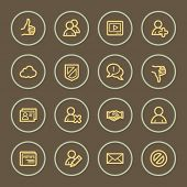 Community web icons set, coffee series