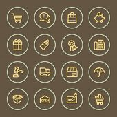 Shopping web icons set, coffee series