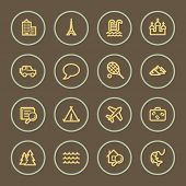 Travel web icons set, coffee series