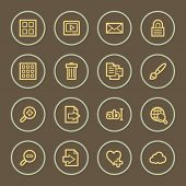 Photo collection web icons set, coffee series