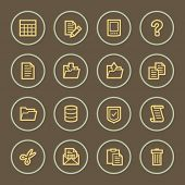 Document web icons set, coffee series