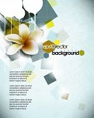 eps10 vector flower in abstract background