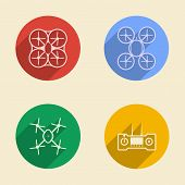 Colored vector icons for quadrocopter