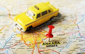 Ankara ,turkey  Map Taxi