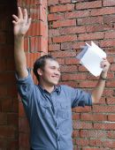 Happy Foreman With Documents A