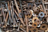Old Rusty  Screws