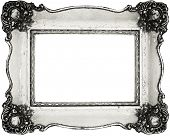 Vintage frame isolated on white, inner and outer clipping paths included