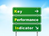 3D Key Performance Indicator Road Sign