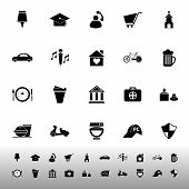 Map Sign And Symbol Icons On White Background