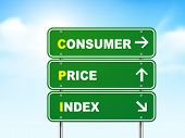 3D Consumer Price Index Road Sign