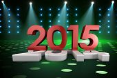 2014 and 2015 against cool nightlife lights