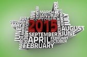 2015 word jumble against green vignette