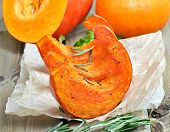 Baked Pumpkin Slices With Herbs