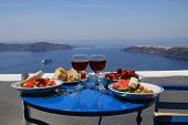 picture of greek food  - Ideal breakfast with wonderful seaview on caldera - JPG