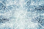 Abstract Background With Kaleidoscope Ice Fragments Pattern
