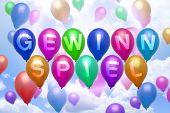 German Sweepstakes Balloon Colorful Balloons