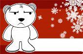 unhappy polar bear cartoon xmas background