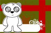 teddy polar bear cartoon xmas background