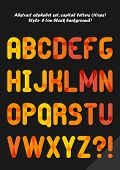 Abstract alphabet ( style 6 ), capital letters ( 10eps )
