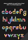 Abstract alphabet ( style 3 ), small letters ( 10eps )