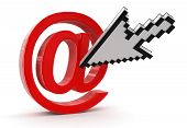 Cursor and e-mail (clipping path included)