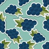 Grape Pattern. Seamless Texture With Ripe Grape