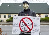 Man In Guy Fawkes Mask.