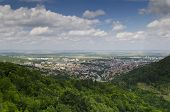A View To The Town Of Shumen, Bulgaria, From The High Medieval Fortress
