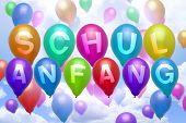 German - Back To School - Balloon Colorful Balloons