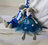 Doll Teddy couple of sheep boy and girl