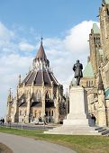 image of nea  - Monument nea Building of the Library of Canadian Parliament in Ottawa Canada - JPG