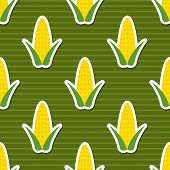 Corn Pattern. Seamless Texture
