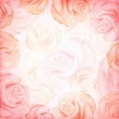 Abstract romantic vector background in pink colors. Vector illustration