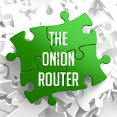The Onion Router on Green Puzzle.