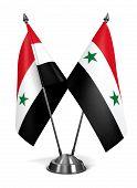 stock photo of civil war flags  - Syrian Arab Republic  - JPG