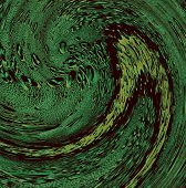 Green Water Swirl As Abstract Background.