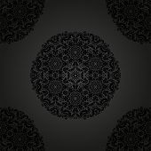 Black Orient Seamless Vector Pattern. Abstract Background