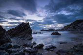 The Cornwall Coast At Night