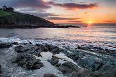 Winter Sunrise Over Talland Bay